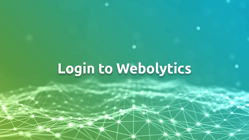 Login To Webolytics