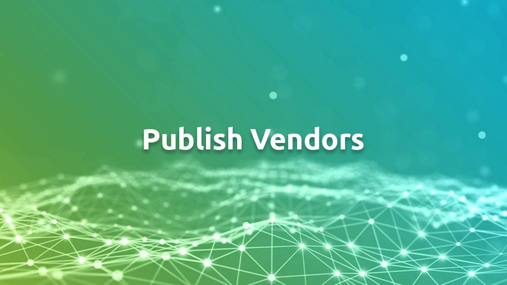 Publish Vendors